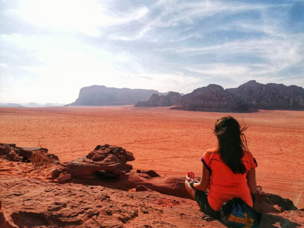 Desert Wadi Rum Meditation